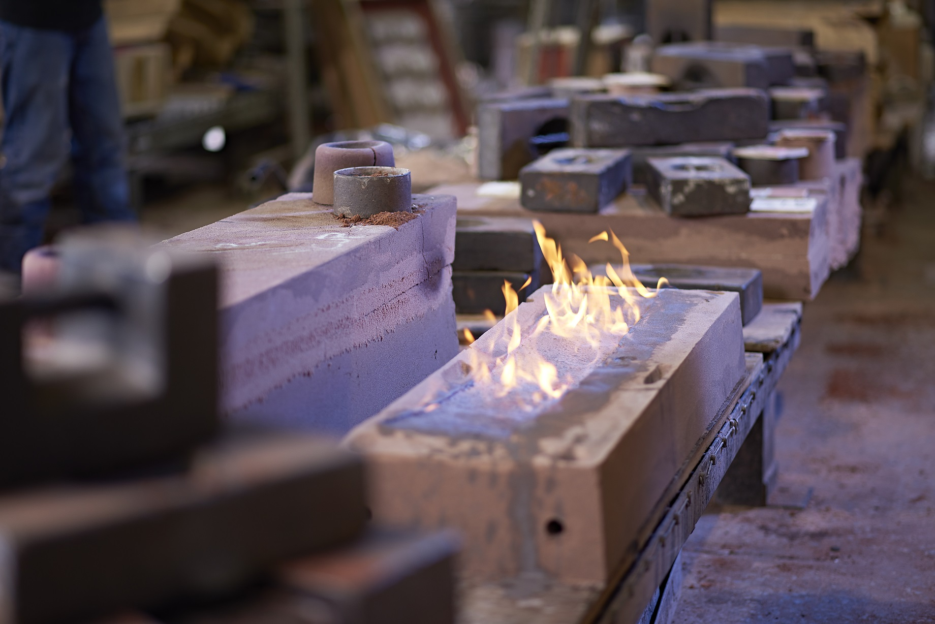 Sand casting at NovaCast's UK Metal Casting Foundry