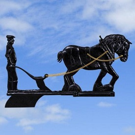 Architectural Castings: weathervane-shire-plough-black