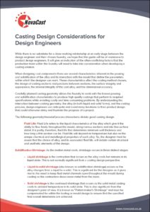 Casting Design Considerations for Design Engineers