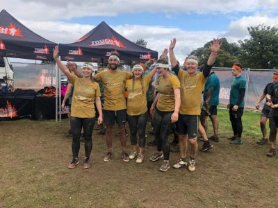 NovaCast team at the end of Tough Mudder